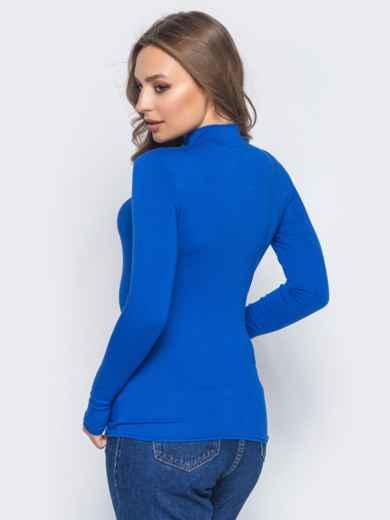 Вискозный гольф синего цвета с длинными рукавами - 16322, фото 2 – интернет-магазин Dressa