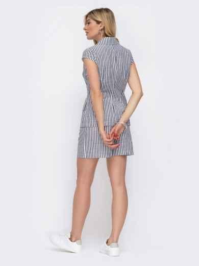 Комплект из жакета и шорт в серую полоску - 48033, фото 4 – интернет-магазин Dressa