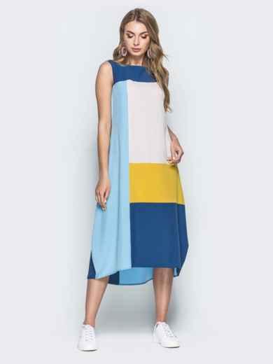 Платье свободного кроя с контрастными вставками 38897, фото 1