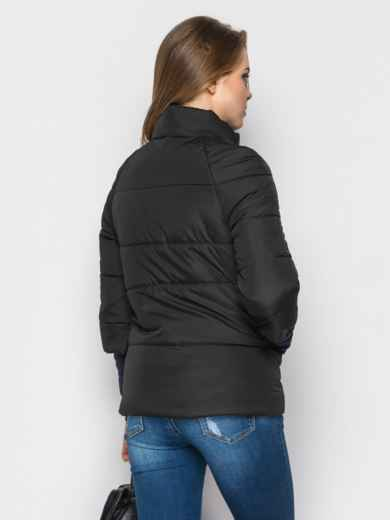 Черная куртка на силиконе с рукавом 3/4 - 12951, фото 3 – интернет-магазин Dressa