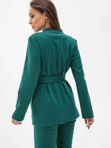 Зеленый жакет из джерси с накладными карманами 51249, фото 4