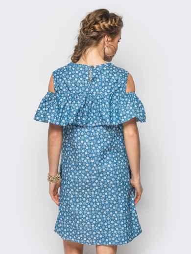 Летнее платье с открытыми плечами в принт - 12601, фото 2 – интернет-магазин Dressa