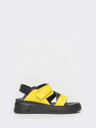 Желтые босоножки из натуральной кожи на платформе - 39607, фото 4 – интернет-магазин Dressa