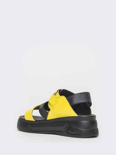 Желтые босоножки из натуральной кожи на платформе - 39607, фото 5 – интернет-магазин Dressa