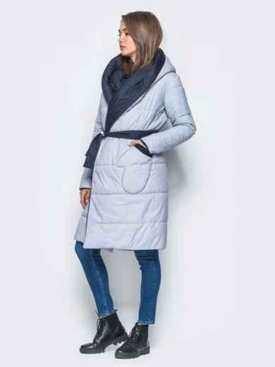 Двухсторонняя куртка с поясом в комплекте - 16737, фото 2 – интернет-магазин Dressa