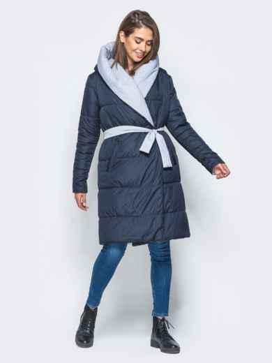 Двухсторонняя куртка с поясом в комплекте - 16737, фото 4 – интернет-магазин Dressa