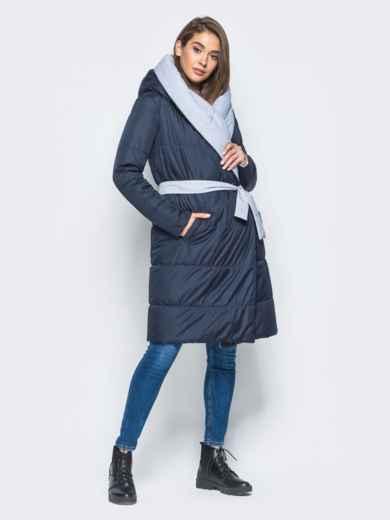 Двухсторонняя куртка с поясом в комплекте - 16737, фото 5 – интернет-магазин Dressa