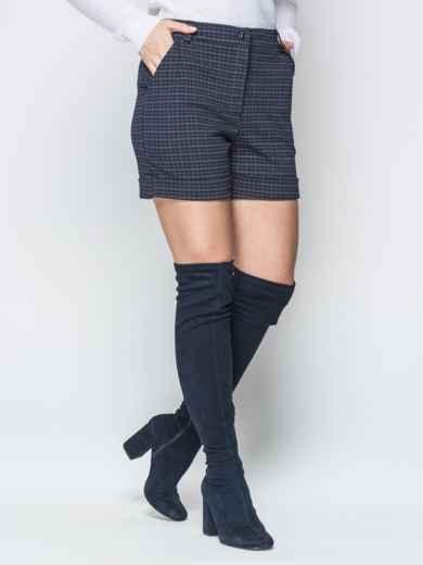 Чёрные шорты с боковыми карманами и шлёвками 19424, фото 2