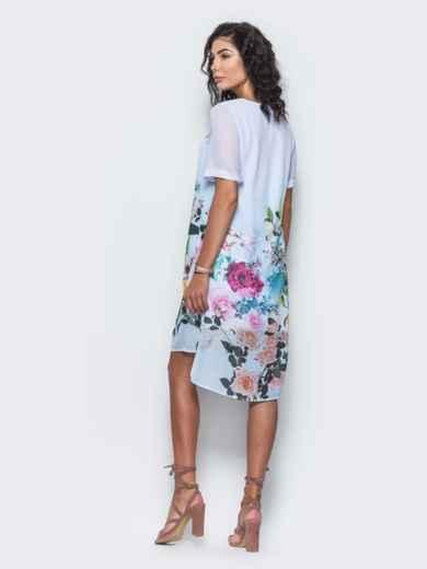 Платье из шифона с принтом - 11642, фото 3 – интернет-магазин Dressa