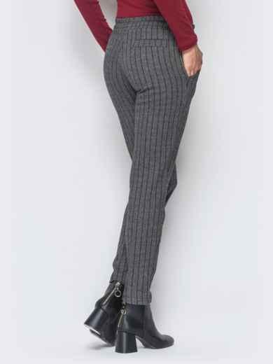 Жаккардовые брюки тёмно-серого цвета - 17757, фото 2 – интернет-магазин Dressa