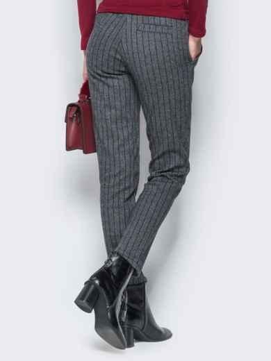 Жаккардовые брюки тёмно-серого цвета - 17757, фото 3 – интернет-магазин Dressa