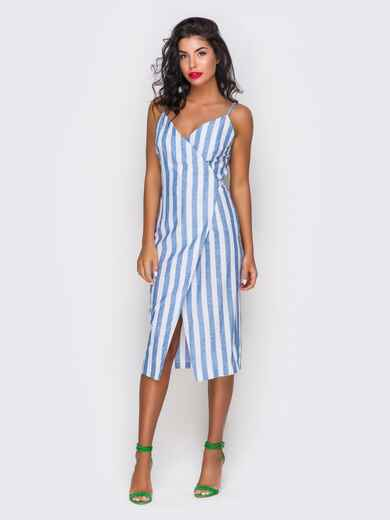 Платье хлопковое в полоску - 10816, фото 1 – интернет-магазин Dressa