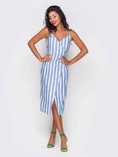Платье хлопковое в полоску - 10816, фото 2 – интернет-магазин Dressa