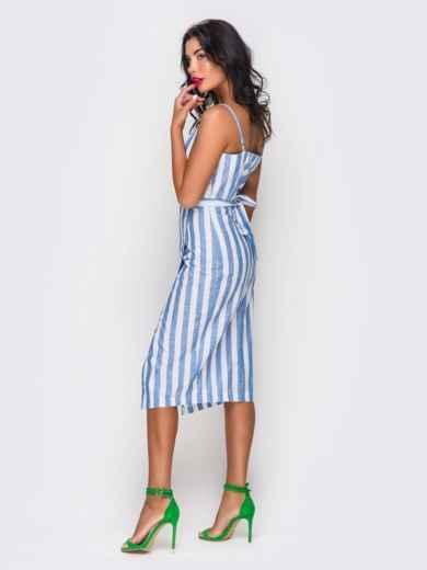 Платье хлопковое в полоску - 10816, фото 3 – интернет-магазин Dressa