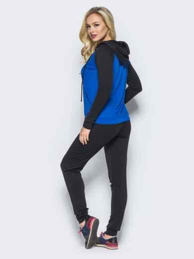 Спортивный костюм с синей кофтой на молнии - 16526, фото 3 – интернет-магазин Dressa