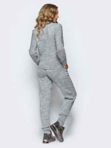 Серый комплект с накладными карманами на брюках - 16097, фото 4 – интернет-магазин Dressa