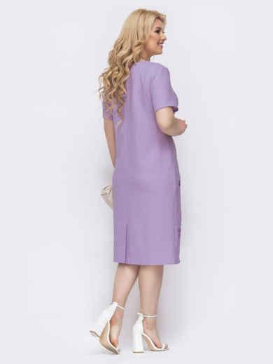 Платье-футболка большого размера с принтом фиолетовое 48900, фото 3