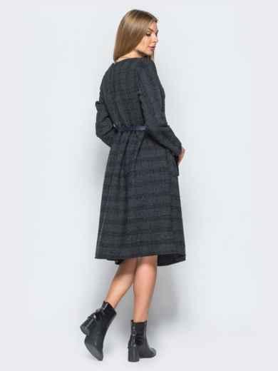Платье из костюмной ткани с мягкими складками на юбке - 17468, фото 2 – интернет-магазин Dressa