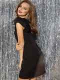 """чёрное платье с рукавом """"крылышко"""" и вырезом по спинке 42842, фото 3"""