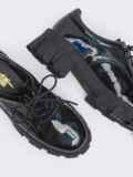 Лакированные туфли на массивной подошве чёрные 50693, фото 2