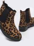 Демисезонные ботинки из искусственной замши с леопардовым принтом 51392, фото 3
