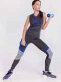Графитовый комплект для фитнеса с контрастными вставками 44614, фото 2