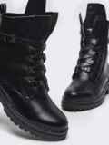 Зимние ботинки из эко-кожи чёрного цвета 51443, фото 2