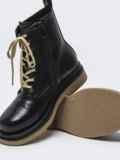 Зимние ботинки чёрного цвета с контрастной подошвой 51726, фото 3