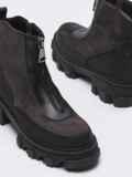 Зимние ботинки из искусственной замши на молнии коричневые 51728, фото 3