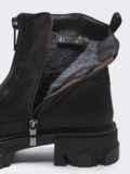 Зимние ботинки из искусственной замши на молнии коричневые 51728, фото 4