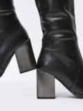 Зимние сапоги с заостренным носком черные 51729, фото 3