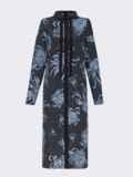 Черное платье с принтом и разрезами по бокам 52853, фото 6