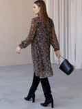Черное платье из шифона в цветочный принт с воротником-стойкой 52861, фото 5