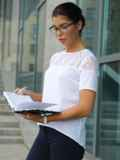 Блузка с кружевной кокеткой белая 10225, фото 1