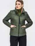 Демисезонная куртка с воротником-стойкой хаки 45392, фото 1