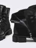 Зимние ботинки из комбинированных материалов черные 51733, фото 4