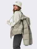 Зимняя куртка мятного цвета с вшитым капюшоном  55601, фото 3