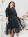 Чёрное платье из люрекса с фатиновой юбкой 43290, фото 1