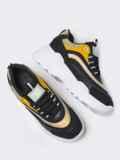 Чёрные кроссовки со вставками на массивной подошве 51383, фото 2