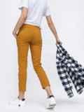 Укороченные брюки со стандартной посадкой коричневые 45624, фото 3