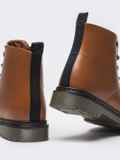 Зимние ботинки из эко-кожи коричневые 51377, фото 4