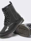 Зимние ботинки из эко-кожи серые 51376, фото 4