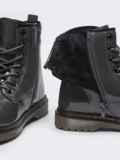 Зимние ботинки из эко-кожи серые 51376, фото 5