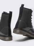 Зимние ботинки из эко-кожи серые 51376, фото 6