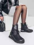 Зимние сапоги черного цвета из искусственной кожи 51748, фото 1