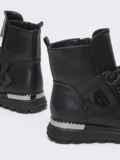 Зимние сапоги черного цвета из искусственной кожи 51748, фото 3