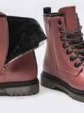 Зимние ботинки из эко-кожи розового цвета 51380, фото 5