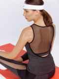 Майка для фитнеса с эластичной сеткой графитовая 44637, фото 2