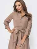 Платье бежевого цвета с расклешенной юбкой 44817, фото 4