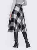 Серая юбка А-силуэта из жаккарда 52685, фото 2